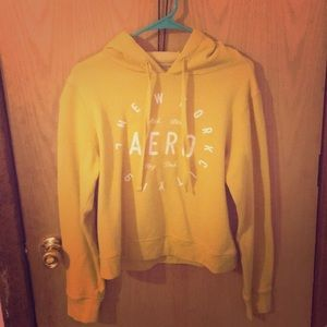 Yellow youth large hoodie from Aeropostale